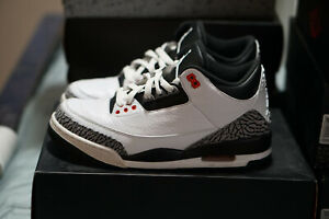 new style 8c751 9f25f Details about Air Jordan 3 Retro Infrared 3s Men's Size 8.5  White/Black/Red/Cement 23