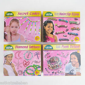 Lena Kreativset Schmuck basteln Fädelperlen Tatoos Armband Mädchen Beschäftigung