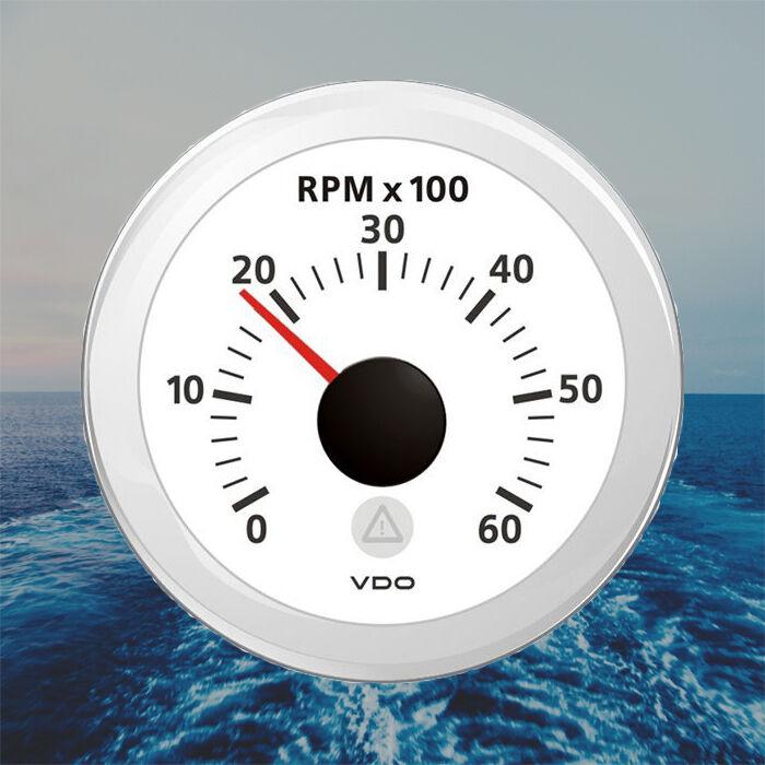 VDO Viewline Drehzahlmesser Stiefel Anzeige 6000 RPM 52mm 2