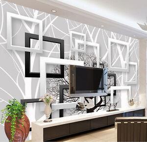 Image Is Loading 3D Wallpaper Bedroom Mural Modern Living Room TV