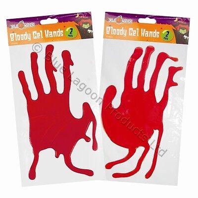Bloody Window Gel Hands Halloween Party Trick or Treat Decoration Creepy Spooky