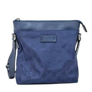 Gucci-women-039-s-Small-GG-Guccissima-Navy-Blue-Nylon-Messenger-Crossbody-Bag-510339