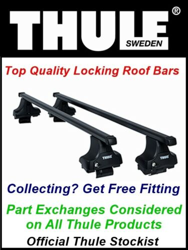 NEW LOCKING THULE ROOF BARS ROOF RACK FITS NISSAN ELGRAND 5 DOOR MPV 2002-2009