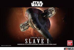 Maquette en plastique Star Wars Slave 1 Boba Fett 1/144 Bandai / revell 01204 Nouveau