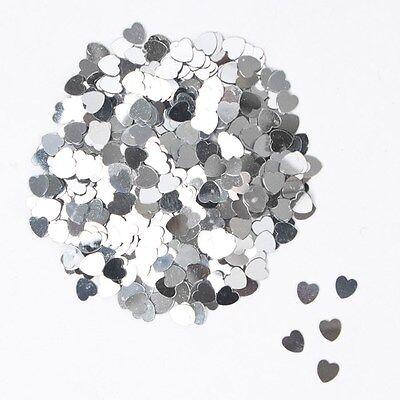 EuroWrap SILVER MINI HEART Small Hearts Table Confetti 14 Gram Party Sprinkles
