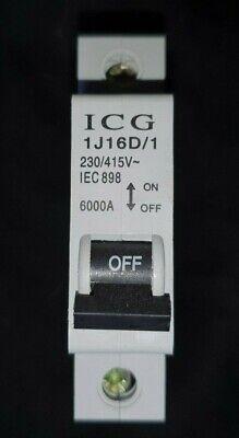 ICG 1J16D//1 16A MCB type D 1 Pole circuit Breaker