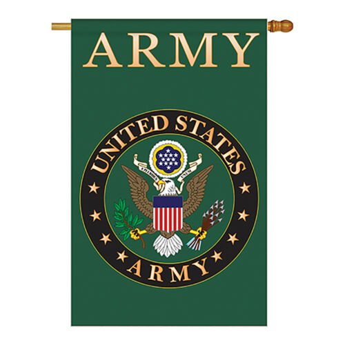 Army Americana Military Applique Garden Yard Banner House Flag