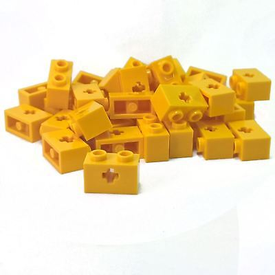 20 NEW LEGO Technic Brick 1 x 2 with Hole Yellow