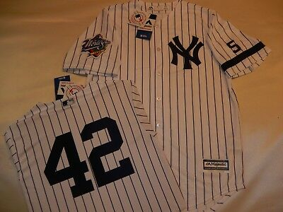 9724 New York Yankees MARIANO RIVERA 2009 WORLD SERIES Baseball Jersey GRAY New