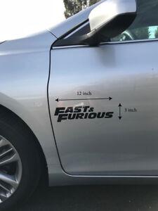 PCs Personalized Custom Fast And Furious Decal Sport Car Window - Custom vinyl stickers ebay