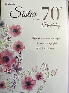 Image Is Loading Sister 70th Birthday Card