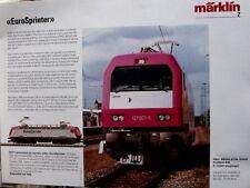 Depliant MARKLIN EuroSprinter anno 1995 scala Z - ITA - Tr.5