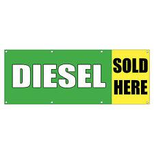 Diesel Sold Here Car Body Shop Repair Sign Banner 4 Feet X 2 Feet W 4 Grommets
