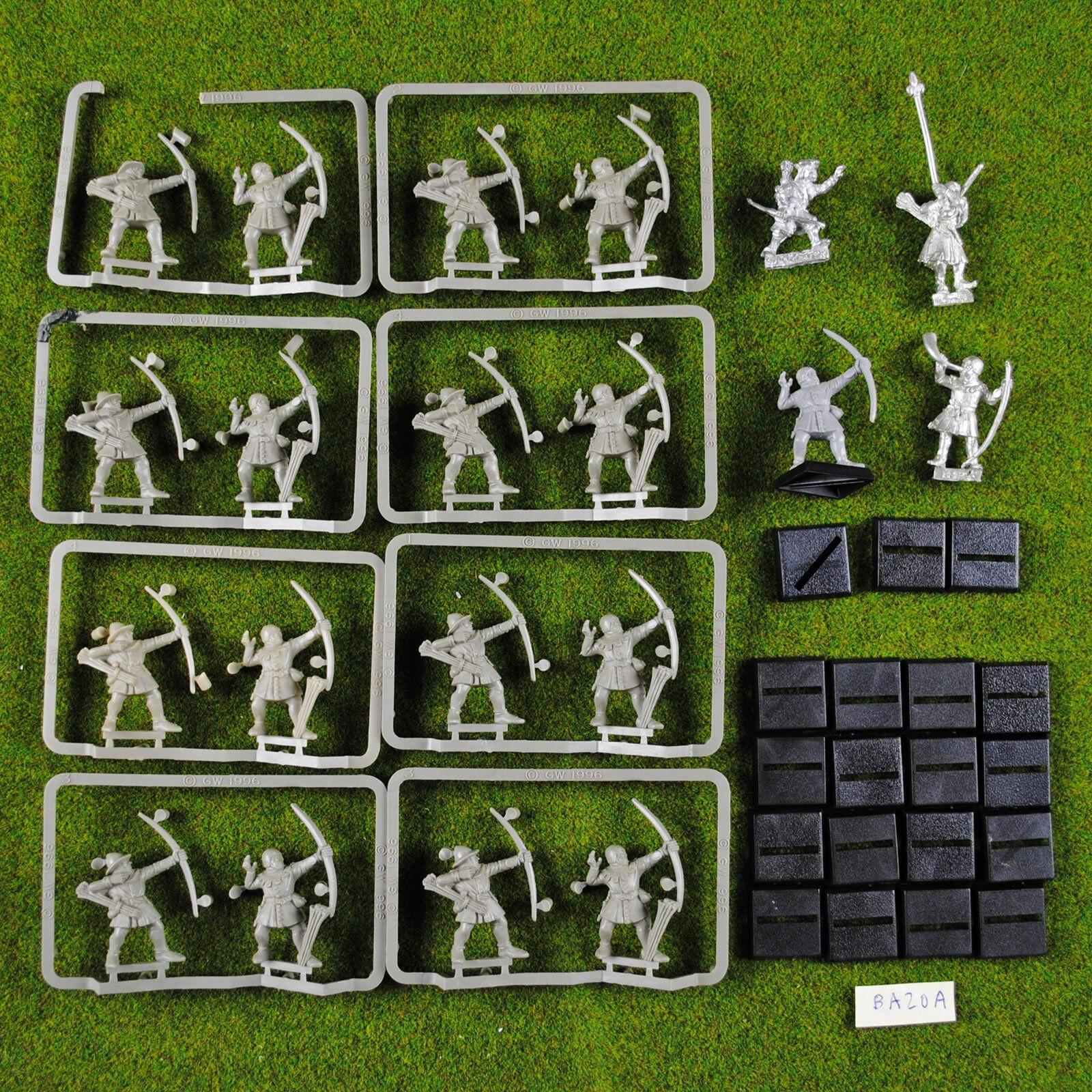 Warhammer Bretonnian Peasant Archers (x17 Plastic + 3 Metal Command ) OOP Bowmen