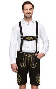Jaune Stockerpoint En H Bretelles Noir Cuir Pantalon B8zBZ