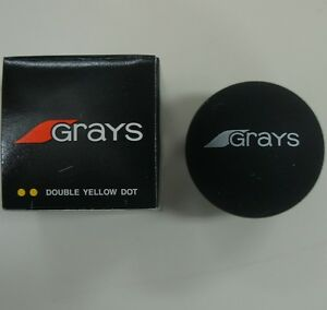 3 Pcs GRAYS Squash Balls, Double Yellow Dot, Made in Taiwan