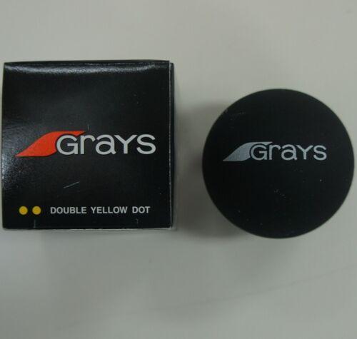 3 Pcs GRAYS Squash Balls, Double Yellow Dot, Made in Taiwan