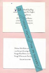 FAIRE-PART-MARIAGE-Georges-Henri-RIVIERE-Nina-SPALDING-STEVENS-1929