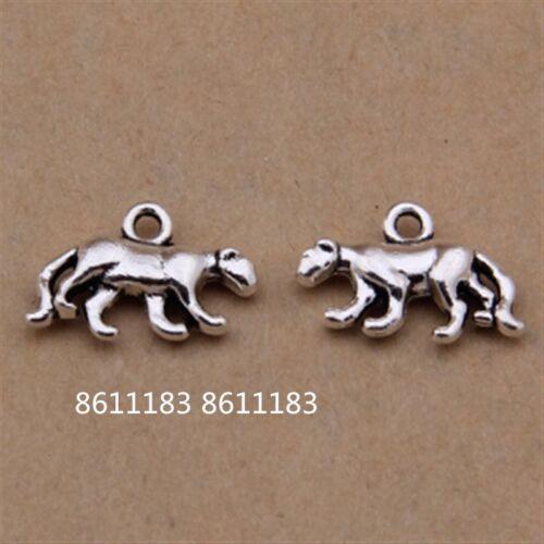 15pc Tibetan Silver leopard Animal Pendant Charms Beads Jewellery Craft  GP1082