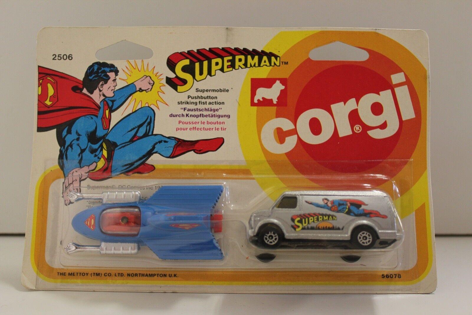 Corgi Juniors no: 2506 Superman Twin Pack avión & Van (originalCardado 2018)
