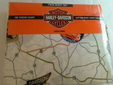 Harley-Davidson Twin Sheet Set Road Trip 1 pillowcase 1 flat 1 fitted