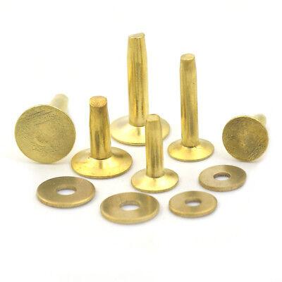 Copper hose saddlers rivets 10 Gauge x 1//2 with washers leather belt bag crafts