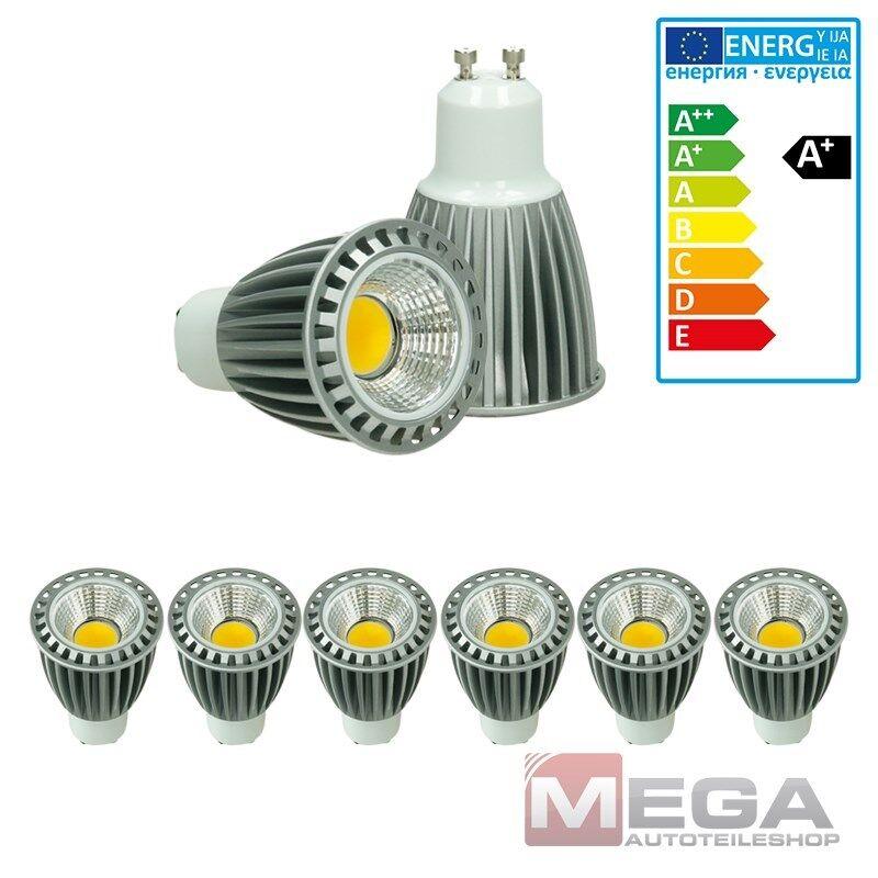 6 x LED COB GU10 Spot Lampe Birne Leuchte Strahler Sparlampe Kaltweiß 9W Dimmbar