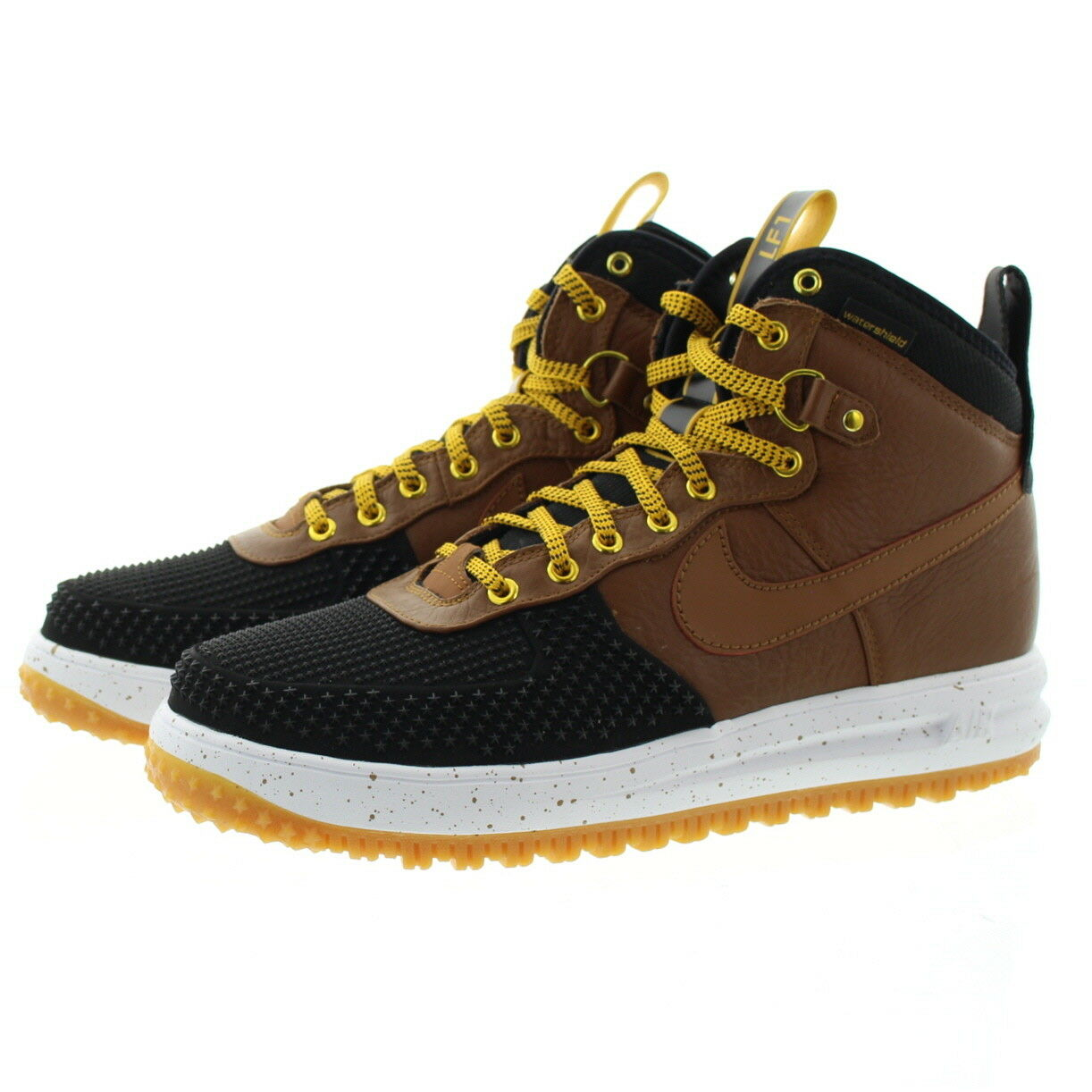 188a85c6ef241 ... Nike 805899 Mens Lunar Force 1 1 1 High Top Water Shield Duckboot Shoe  Boots 3ca432 ...