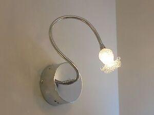 Applique lampada parete moderna flessibile bagno specchio quadro