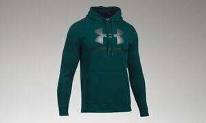 New Under Armour Men's Rival Fleece Graphic Hoodie - Size 3X-Large - Arden Green