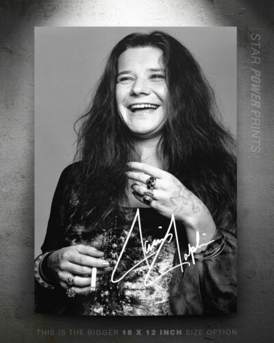 Janis Joplin photo print poster pre signed Pearl Ball and chain