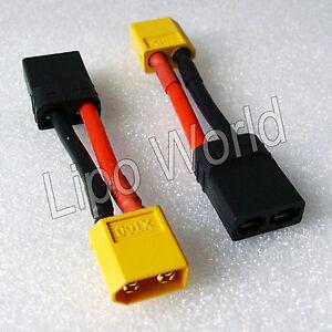 XT60-Stecker-auf-Traxxas-TRX-Buchse-12AWG-Adapter-Lade-Kabel-LiPo-Akku
