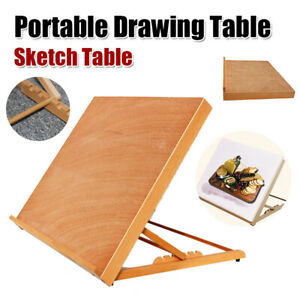 A2 Student Wood Desk Easel Drafting Drawing Board Kids ...