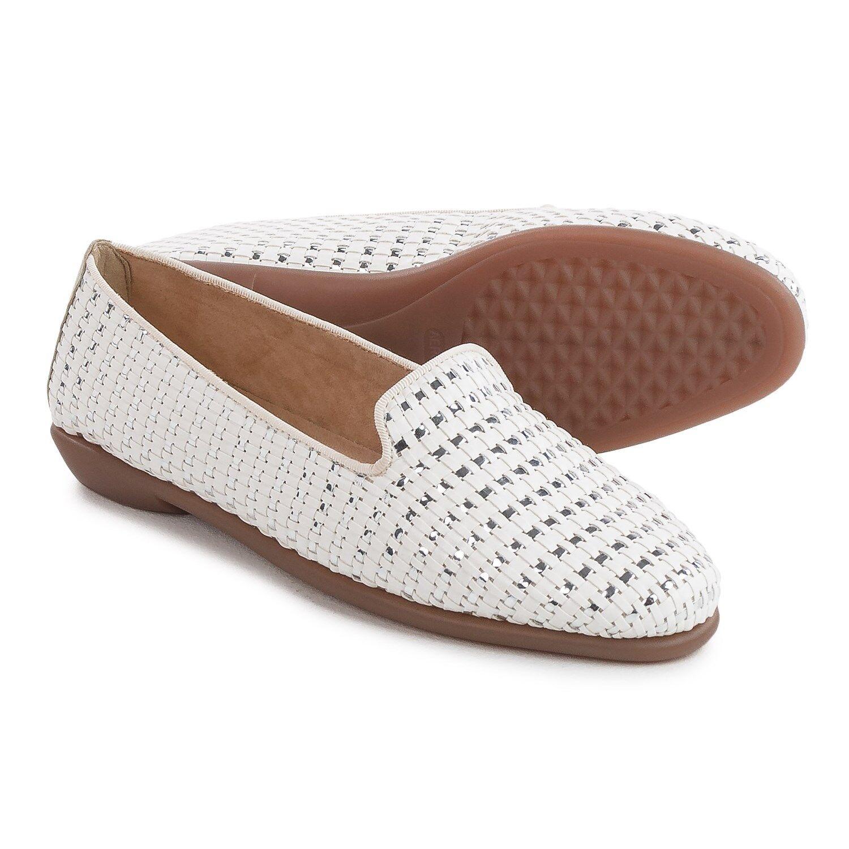 Aerosoles Betunia Flats - Vegan Leather, Leather, Leather, Black White, Size 9.5 9-1 2M NIB 380aad