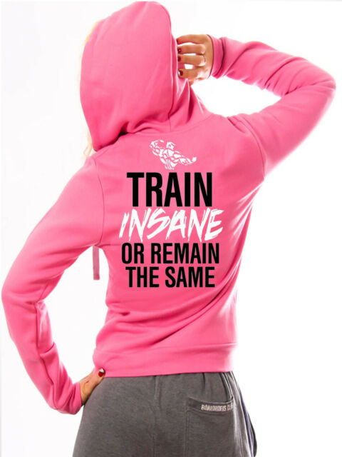 SHREDZ WOMENS BODYBUILDING CLOTHING HOODY GYM TRAIN INSANE WORKOUT CROSSFIT WEAR