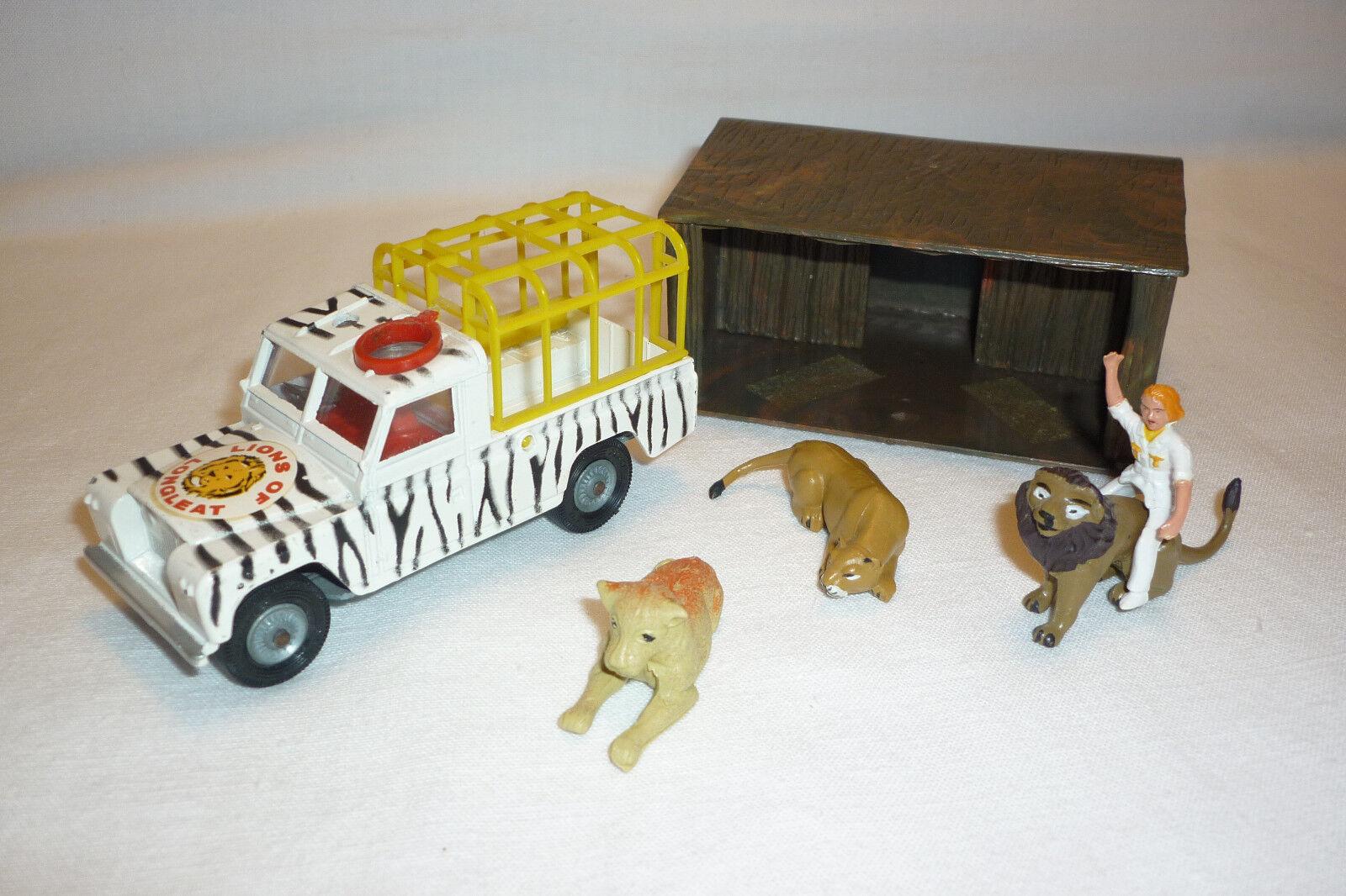 Corgi spielzeug - vintage - miniatur de metal - land rover leones (corgi - 101)