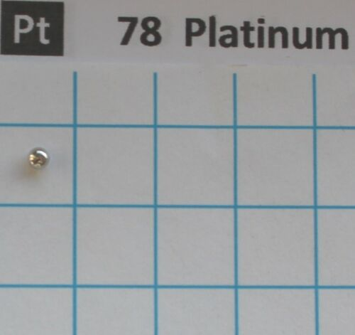Lichtbogengeschmolzene Platin Metall 99,95/% 0,21 gramm Platinum Element 77