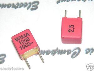 10pcs-WIMA-FKP2-1000P-1000PF-1nF-1000V-2-5-Pich-5mm-Kondensator