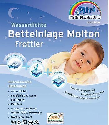 Alvi Nässeschutz Molton Frottier Wasserdichte Betteinlage Matratzenschutz 50x90