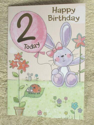 Âge 2 carte d/'anniversaire ~ Carte d/'anniversaire âge 2 ~ Qualité Cartes ~ Childrens CARTES ~