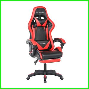 Chaise de bureau avec coussins GAMING fauteuil gamer siège style racing racer