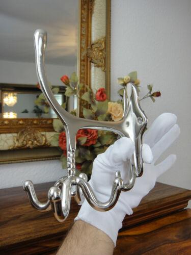 Wandgarderobe art nouveau pivotante Edel Argent Antique Luxe loge wandhaken NEUF
