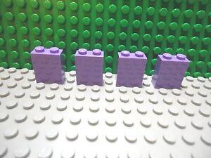 Lego 4 Lavender 1x1 brick block NEW