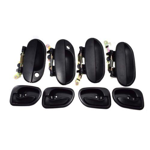 8pcs Black/&Black Door Handles Controls Set For Hyundai Accent 95-99 8265022000CA