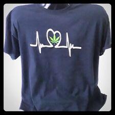 Big Pot Leaf Marijuana Weed 420 Ganja Smoke Toke Reefer Kush Mens V-neck T-shirt