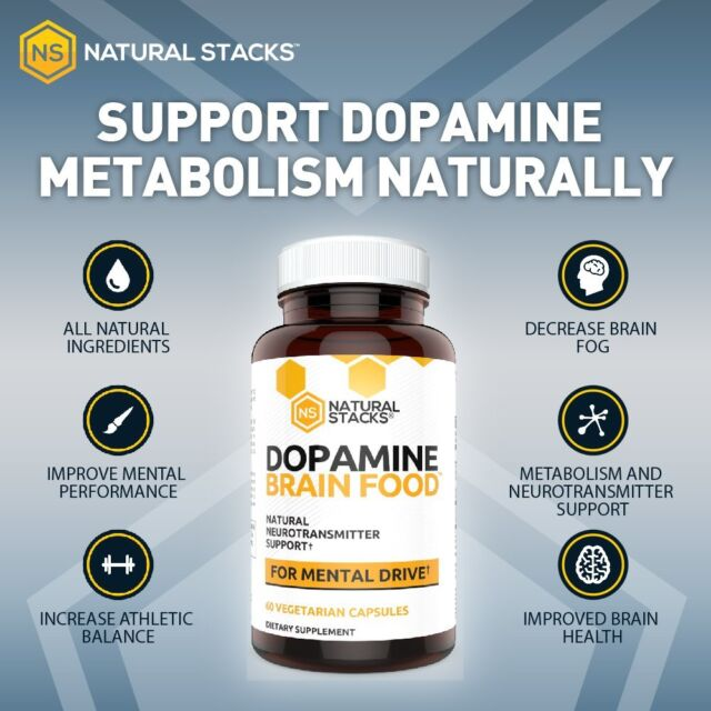 Dopamine Brain Food Supplement All Natural Neurotransmitter Support