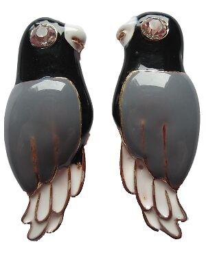 Aretes pendientes conector loro pájaro multicolor ramo ara zoo Kakadu 9 colores superior