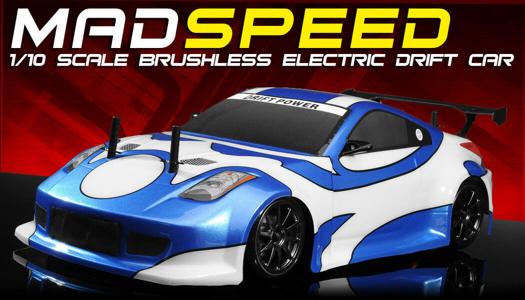 Exceed RC MadSpeed Drift King Brushless 1 10 Electric Ready to Run bluee Radio