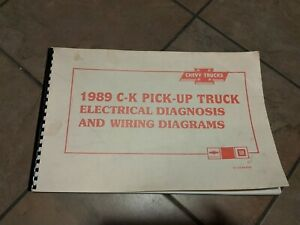 1989 Chevy C/K camioneta el diagrama de cableado manual del taller Original  | eBayeBay