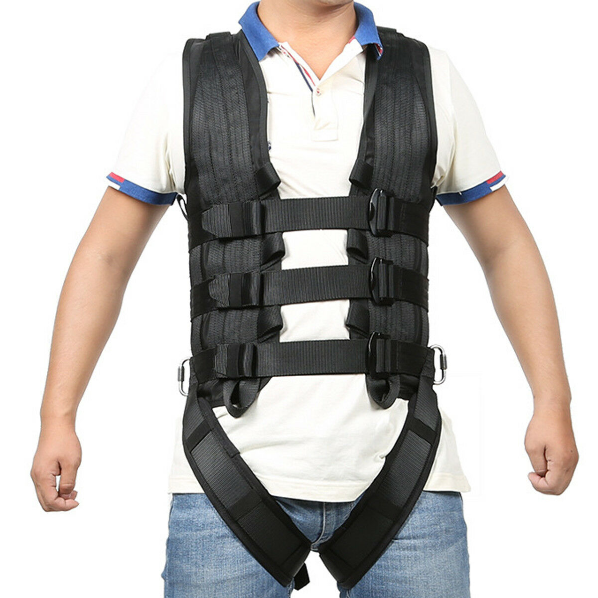 Heavy Duty Full Body Harness Abseiling Stunt Show Safety Fall Predection Gear
